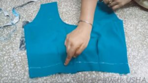 take required length and mark line,fold it & sew it