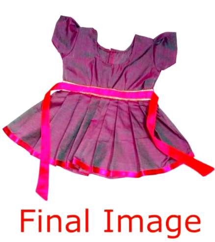 Simple Frock Cutting And Stitching - Final Image