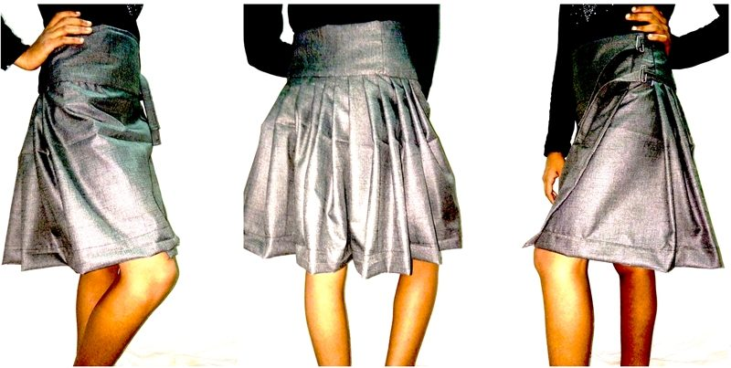 how to make draped skirt