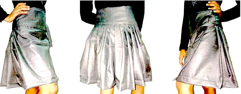 Draped Skirt Stitching