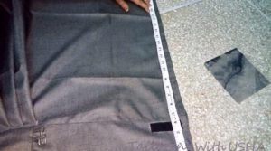 measure skirt length and then fold up to required length