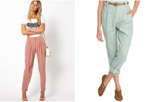 Feminine Pleated Pants