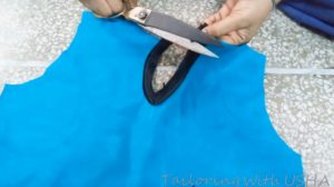 mark small cuts and fold it to wrong side