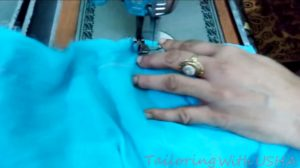 sew lining fabric separately after waist length mark