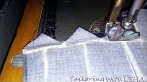 make triangles and sew from base