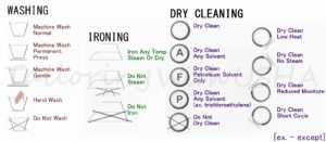 Washing, Ironing, Dry-Clean Labels