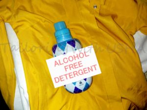 Use alcohol free detergent