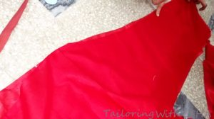 do permanent sewing on remaining length