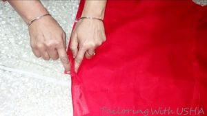 do temporary sewing on zip inserting length