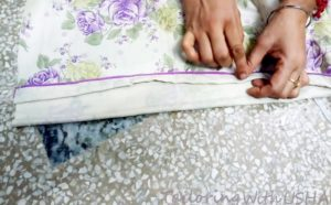 do hand stitching on wrong side